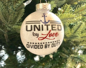 united by love us navy ornament sailor anchor us navy ornament support military support military christmas deployed bootcamp