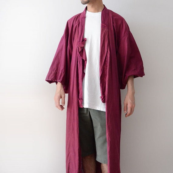 kimono vintage japanese cotton coat 30s 40s antiqu