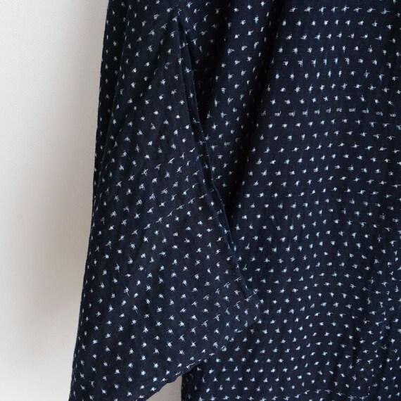 indigo kimono robe kasuri fabric cotton japan vin… - image 6