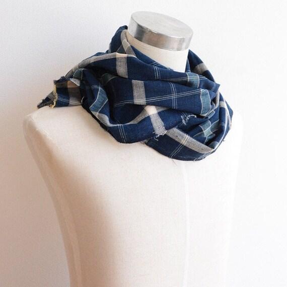 indigo fabric japanese vintage textile aizome blue