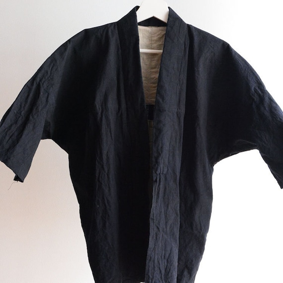 Noragi Jacket Men Japanese Vintage Kimono Cotton P