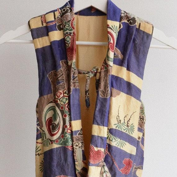 kimono vest hanten padded japan vintage kids 20s 3