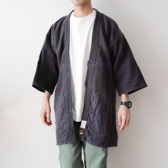 kendo jacket sashiko fabric cotton japan vintage