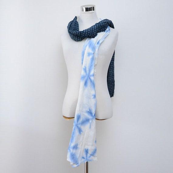 japanese fabric scarf vintage remake cotton shibor