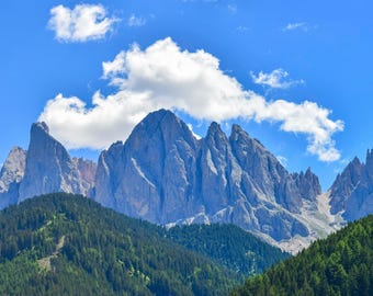 """Original photographic print """"Val di Funes"""" by Emya Photography"""