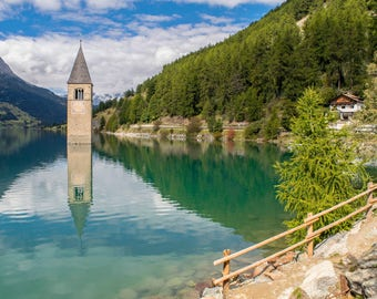 """Original photographic print """"Lake of Resia"""" by Emya Photography"""