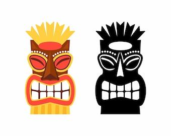 Tiki SVG, Tiki Statue, Tiki Vector, Tiki Eps, Commercial Use, Tiki Clip Art, Tiki, Hawaii, Luau,God, Angry, Tiki Silhouette, Embroidery, Cut