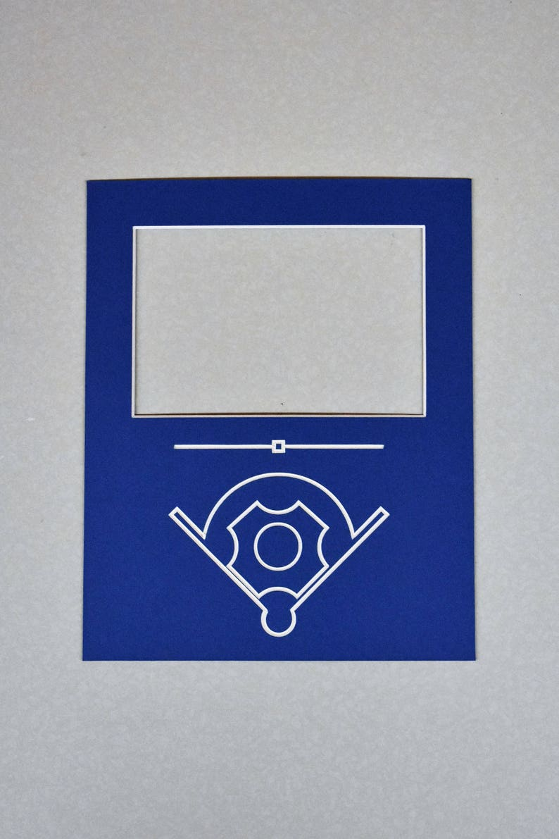 Custom Sport Photo Frame Mat  Various Colors and Sizes Available