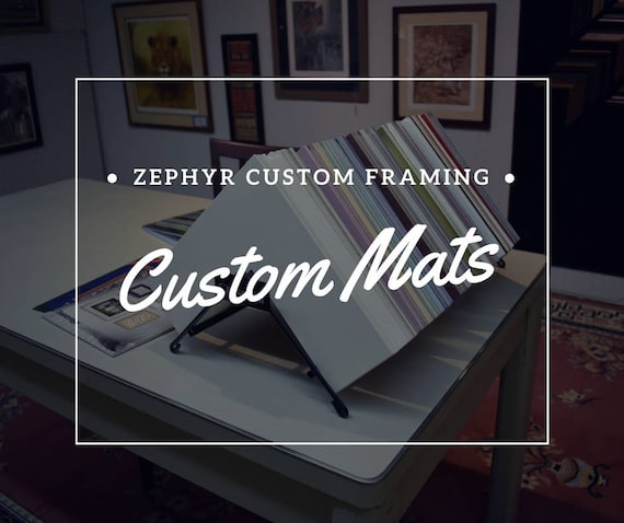 Custom Cut Picture Frame Mat  Various Colors and Sizes Available