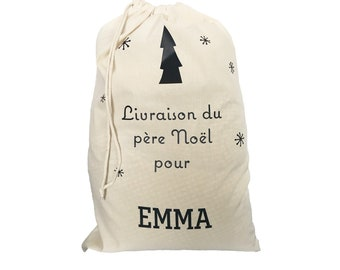 Personalised Santa's Hotte - Gift Bag 100% cotton Gift wrapping