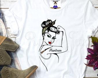 880ab44352c37 Custom Huntress Rosie T-shirt or Tank Top