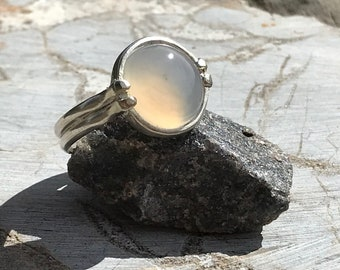 Iris Agate and Sterling Silver Ring