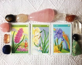 Love Oracle Reading, Divination, Crystals, Oracle Card Reading, Card Reading, Flowers of Love Oracle, Psychic Tarot of the Heart
