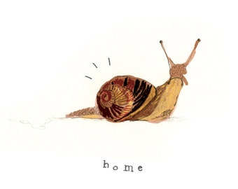 Snail Moving Home Card