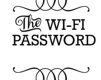 Wifi password svg | Etsy