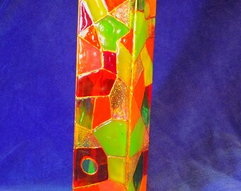 glass painted vase