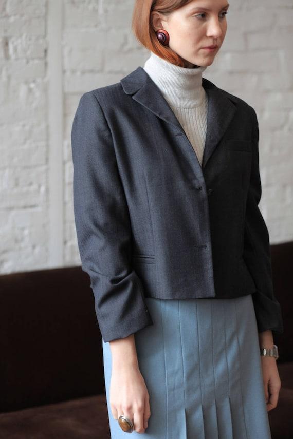 Cropped Woolen Blazer from Benard Holtzman