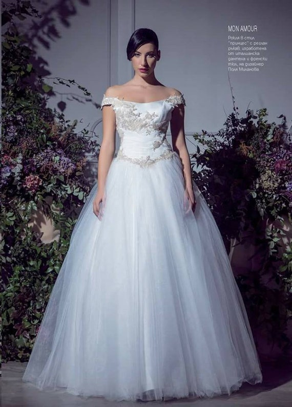 Kleid Freude Prinzessin Tull Brautkleid Prinzessin Hochzeit Etsy