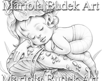 SnaiLove   Mariola Budek - Coloring Page   Printable Adult Kids Cute Animal Teddy Bear Colouring Pages Instant Download Grayscale PDF JPG