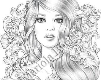 DeliCate | Mariola Budek - Premium Coloring Page