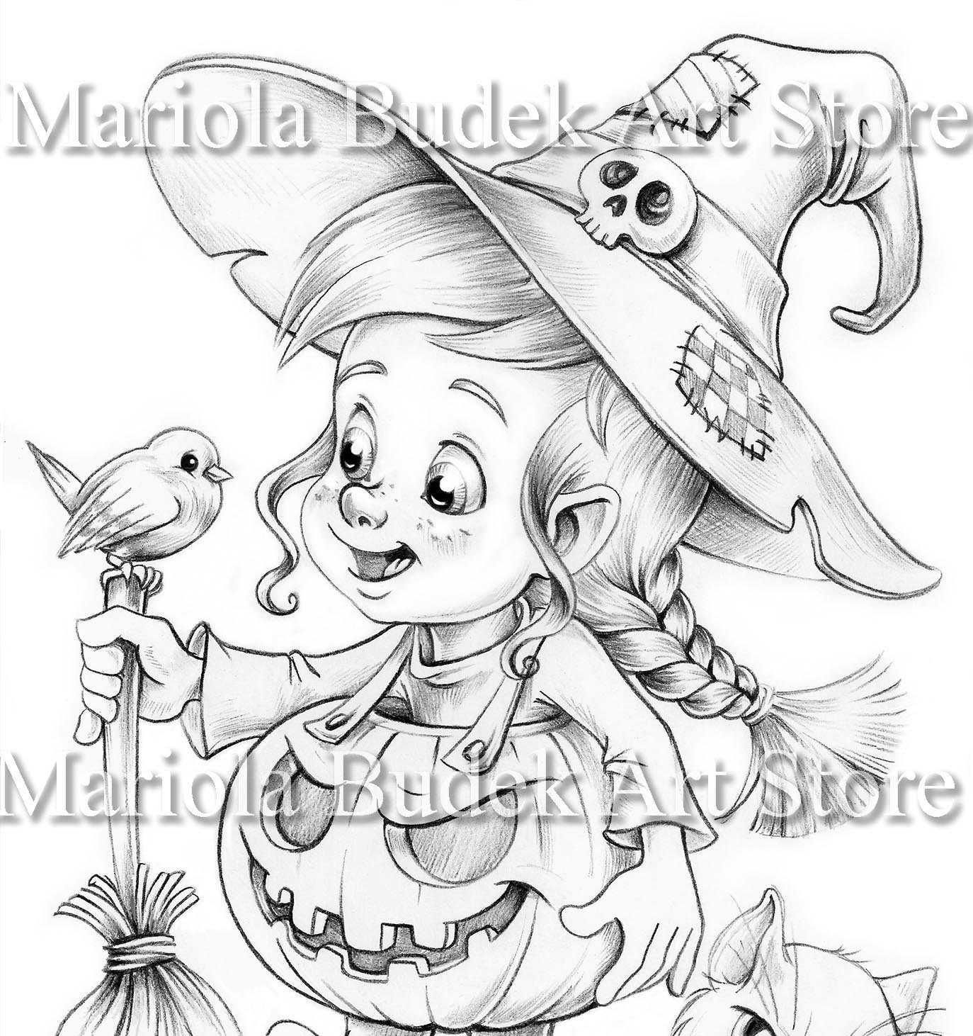 Witchy Mariola Budek Coloring Page