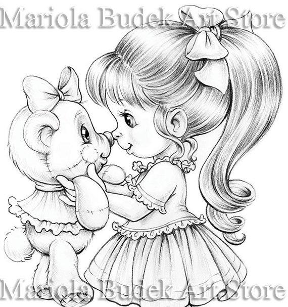 Best Friends Mariola Budek Coloring Page Printable Adult Etsy