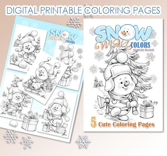 Snowman Colors  Mariola Budek  Coloring Book  Printable