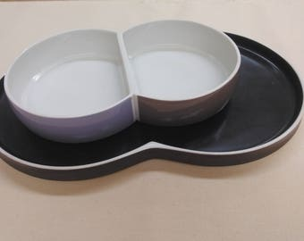 Block Chromatics serving plate and bowls set