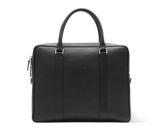 Leather Briefcase Men, Office Bag, Laptop Bag, fits MacBook and Surface Pro, Full Grain Leather