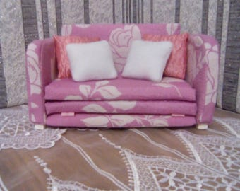Dollhouse Sofa 1/6 Scale Doll Furniture Living Room Set Barbie Doll House  Doll House Furniture