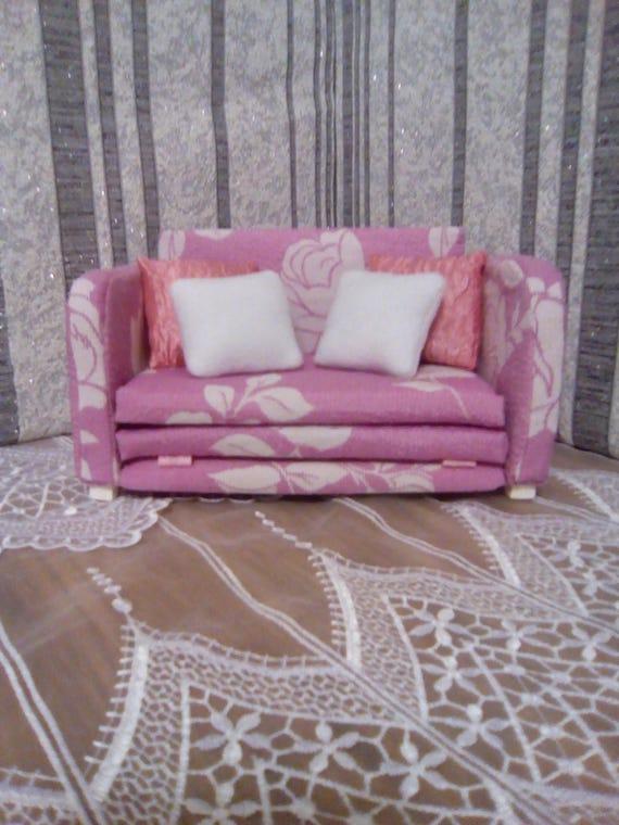 Dollhouse Sofa 1 6 Scale Doll Furniture Living Room Set Barbie Etsy