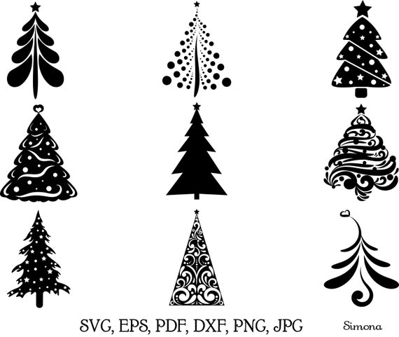 Christmas Trees Svg Png Etsy