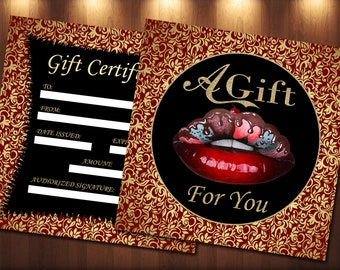 makeup artist gift certificate template gift certificate etsy