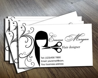 Hair stylist business cards etsy hair stylist business card business card template personalized business cards cards business design calling cards instant download colourmoves