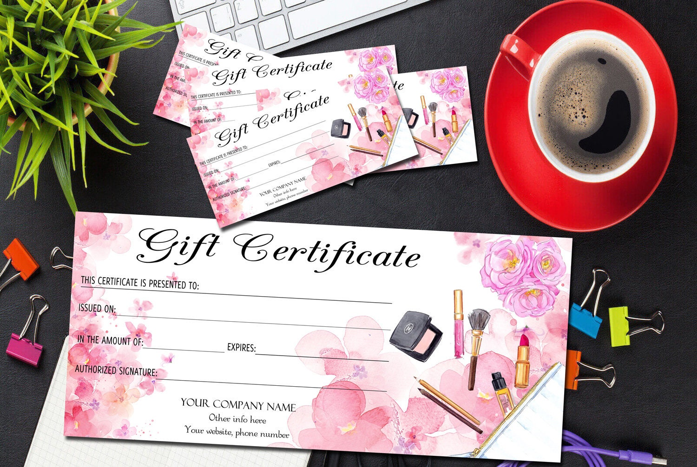 makeup artist gift certificate template gift certificate. Black Bedroom Furniture Sets. Home Design Ideas