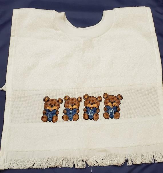 "Charles Craft Toddler Pullover Velour Bib 14-count 12/"" x 19.5/"" cross stitch"