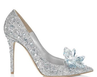 12fcf1262d4e Cinderella style crystal heels