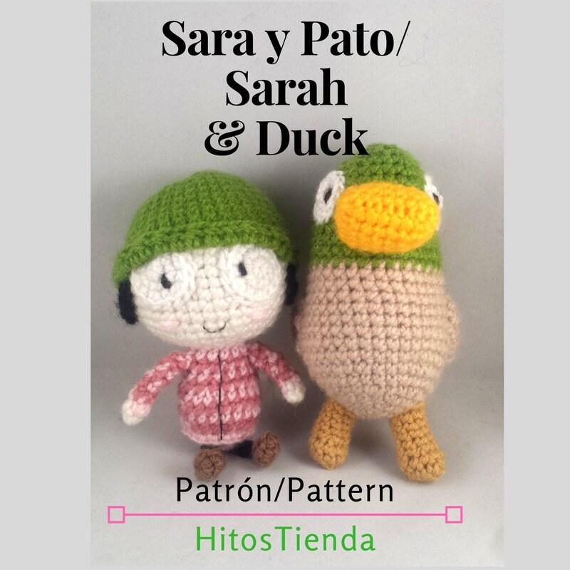 Patrón amigurumi Sara y Pato_Sarah and Duck amigurumi | Etsy