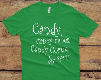 e9969da4 Buddy the Elf Quote Christmas Shirt, Elf Movie Four Food Groups, Candy,  Candy Canes