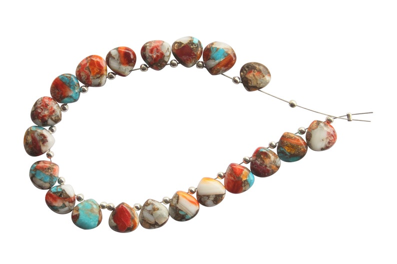 BVC 34 Oyster Copper Turquoise Smooth Hearts Oyster Copper Turquoise Smooth Beads Oyster Copper Turquoise  Briolettes