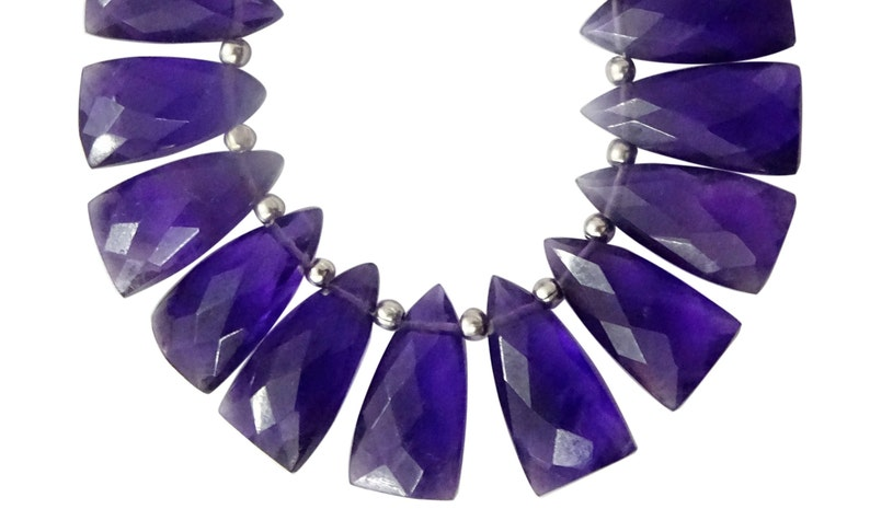 8*16MM 12 Pieces Natural African Amethyst Faceted Spearhead Briolettes Amethyst Fancy Briolettes Amethyst faceted Briolettes SUV206
