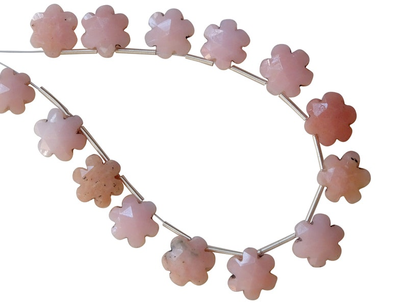Pink Opal Faceted Flowers BLF57 Pink Opal Briolettes Pink Opal Fancy Briolettes Flowers