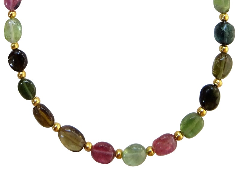 Multi Tourmaline Oval Beads Multi Tourmaline Beads TZD16 5*7mm AAA Grade Multi Tourmaline Smooth Oval Beads