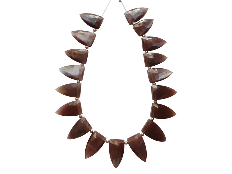 Chocolate Moonstone Fancy Shaped Beads VN22 Chocolate Moonstone Fancy Briolettes Chocolate Moonstone Fancy Briolettes