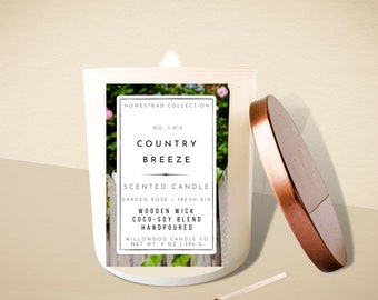 Country Breeze Soy Wood Wick Candle