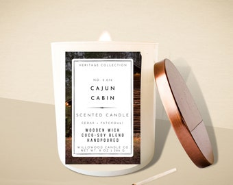 CAJUN CABIN Soy Wood Wick Candle
