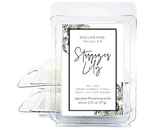 WAX MELTS Stargazer Lily Scented Coconut Soy Wax Melts for Wax Burner