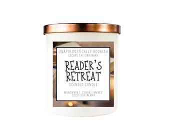 Reader's Retreat Bookish Candles with Crackling Wood Wick