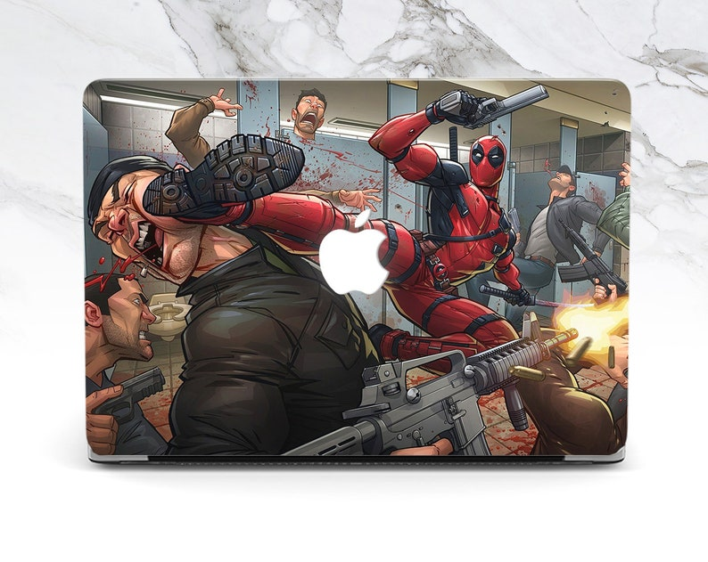 more photos 86254 70a8b Inspired by Deadpool Macbook case Marvel Air 13 case Deadpool Macbook Pro  15 case Macbook 12 Marvel Pro 13 cover Deadpool Air 13 inch case