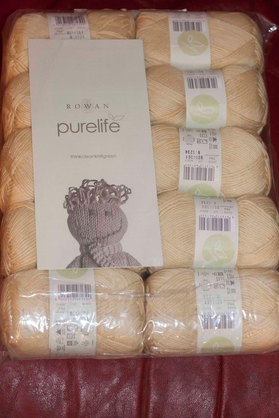 rowan purelife organic cotton naturally dyed colour etsy